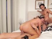 Crazy tranny fucked by her mate