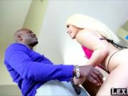Modeling blonde Brooke Summers auditions and gulps Lexi