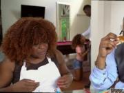 Massage my playfellow's teen full and ebony mom teaches