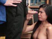 Busty Asian Ember Snow fucked for stealing