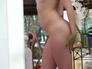 Hot blonde spied in massage salon