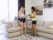 Jade Jantzen and Molly Maes tight pussies fucked doggy