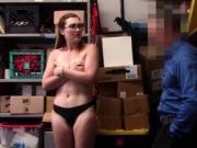 Kat Monroe munching the LP Officers cock