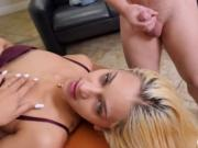 Showing how she deals with cock