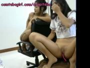 young teen lesbian korean schoolgirl Shizuka masturbate