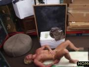 Blonde curly hair dude gets ass holes
