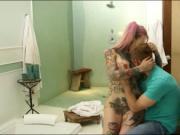 Busty tattooed emo whore pussy banged