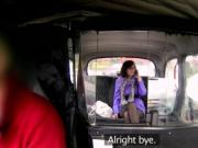 Busty British teen banging in fake taxi