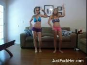 My Sexy Blonde Sister and her Friend - JustFuckHer.com