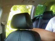 Cute brunette fucked in taxi in woods