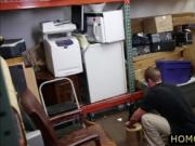 Firm ass blonde dude holed in the shop