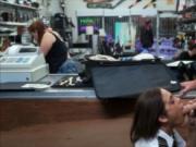 Pretty Latina stewardess fucked at the pawnshop to earn