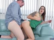 Roger fuck Tracy in the couch doggystyle after the blow