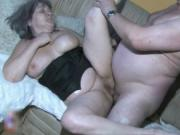 Busty granny is sucking an old cock,both grandparents a