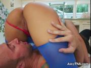 Sexy Brunette Abella Danger Devours Boyfriends Cock