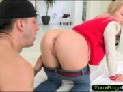 Zoey Foxx asshole pounded by throbbing dick on the couc