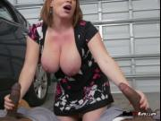 Busty Cougar Maggie Green Gets Spit Roasted