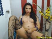 Hottie Asian Tranny Masterbating On Cam