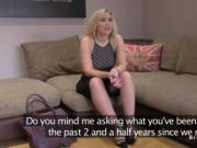 British agent fingers busty blonde