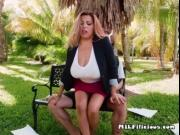 Luscious Cougar Alessandra Miller Blows Young Stud