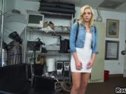 Epic blonde slut loves black fuck rods so she sucks the
