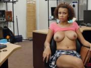 Beautiful ebony Raven Redmond sucks Shawns cock for mon