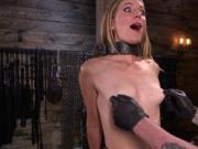 Blonde got tits and cunt tortured
