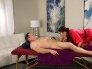 Tight masseuse Anna Deville pounded hard