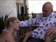 Kinky blonde teen nailed by her stepbro at the terrace