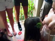 Dudes fiming and fucking babes at party