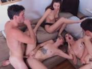 Party group blowjob first time Dorm Party