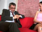 Cute schoolgirl gets tempted and shagged by her older t
