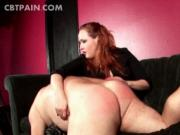 Aroused guy loves getting ass spank hard