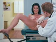 Busty cougar Veronica Avluv fucked with a hot doctor