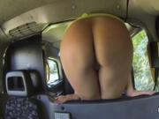 Lesbian ass spanking in taxi