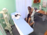 Pigtailed slut fucked at doctors office