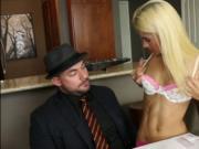 Uma Jolie gets pounded hard by her stepdads friend