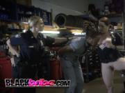 Smoking hot cops banged on floor