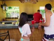 Dad joins partner's teen Holly Hendrix Has Some Fun Wit