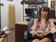 Asian stunner chick Tiffany Rain recieves a hard pussy