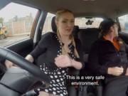 Furious Georgie Lyall gets fucked hard inside FDS car