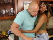 Gorgeous latina Sophia Leone slurps and fucks a bigcock