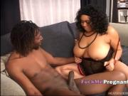 BBW ebony bitch trying to swallow fat sausage