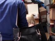 Blonde shoplifter babe Fallon punished by the cop