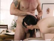 TS Stefani gets banged hard by her boss with a big cock