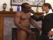 Interracial anal banging