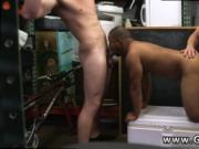 Teen emo boy blowjob eating cum and black men classroom