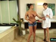 Sadie Holmes and August Taylor slippery shaved pussy sc