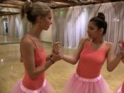 Horny hottie chick ballerinas spread her legs for pleas