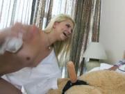 A Giant Teddybear As The Token Dick In The Lesbo Slumbe